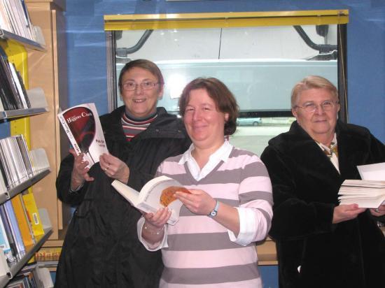 Laurence et ses deux précieuses aides Marie-Louise et Monique.